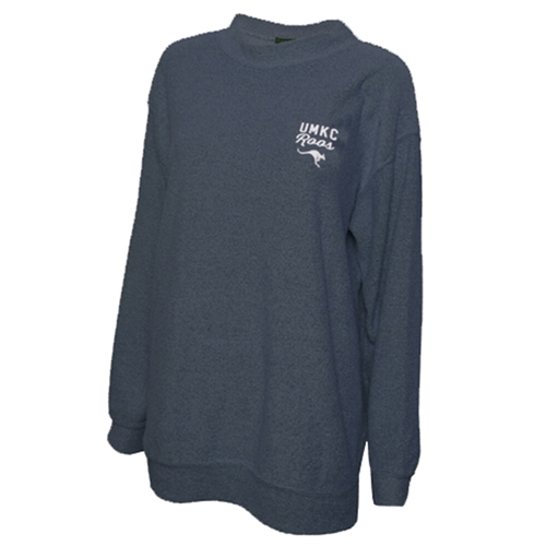 UMKC Roos Juniors' Navy Blue Crew Neck Sweatshirt