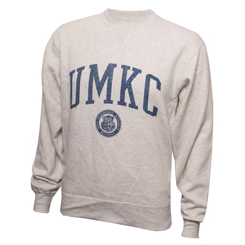 UMKC Official Seal Off White Crew Neck Sweatshirt