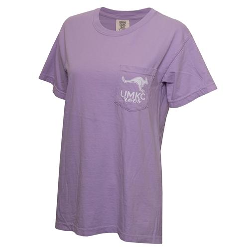 Umkc Bookstore Umkc Comfort Colors Juniors Lavender Crew Neck T Shirt