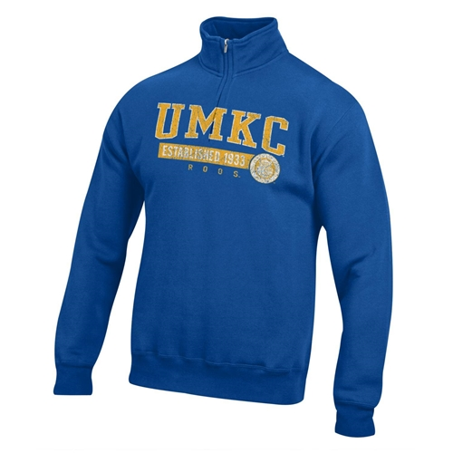 UMKC Roos Royal Blue 1/4 Zip Sweatshirt