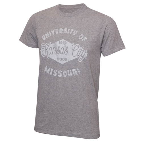 UMKC Roos Ash Grey Crew Neck T-Shirt