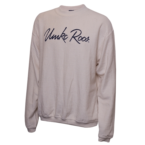 UMKC Roos Navy Blue Corded Crew Neck Sweatshirt