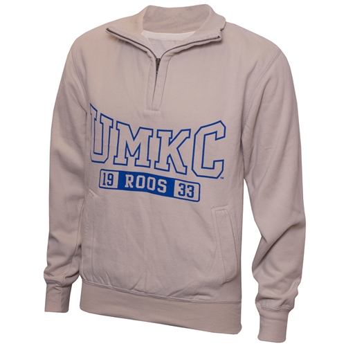 UMKC Roos Tan 1/4 Zip Sweatshirt