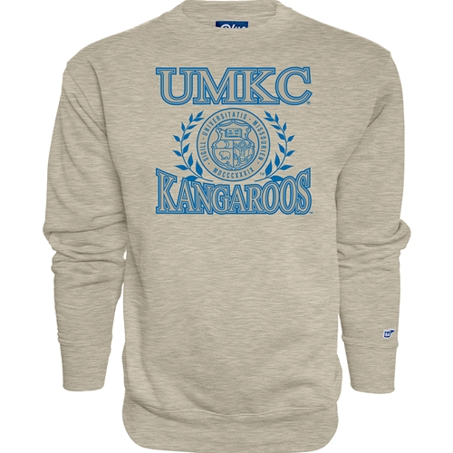 UMKC Roos Official Seal Off White Crew Neck Sweatshirt