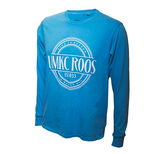UMKC Roos Life Is Better In Kansas City Blue Crew Neck Shirt