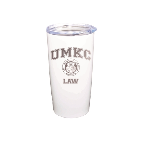 UMKC Law Seal White Vacuum Insulated Tumbler